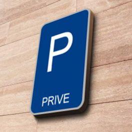 Panneau parking Privé à couvre-chant