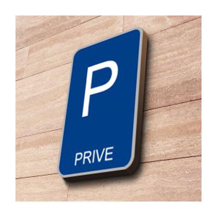 panneau de parking priv couvre chant rectangulaire. Black Bedroom Furniture Sets. Home Design Ideas
