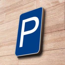 Panneau signalisation Parking à couvre-chant