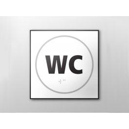 Panneau WC - relief et braille