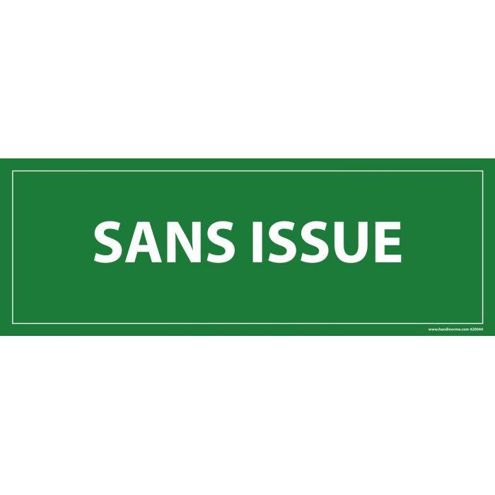 Panneau Sans issue FOND VERT