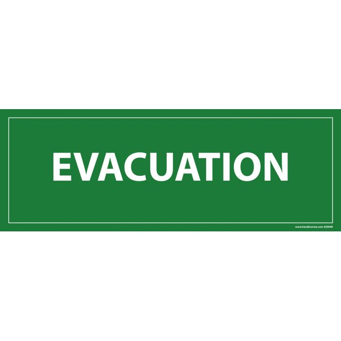 Panneau Evacuation