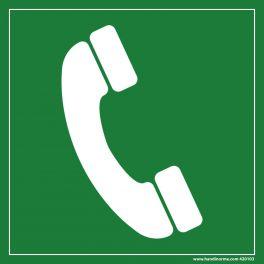 Signalétique Evacuation Téléphone à utiliser en cas d'incendie