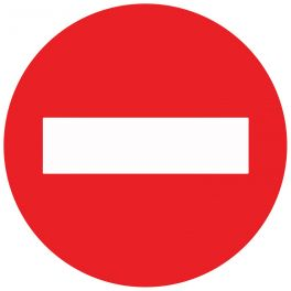 Panneau de circulation - sens interdit