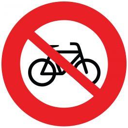 """Panneau de circulation """"Accès interdit aux Cyclistes"""""""