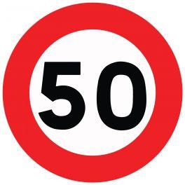 """Panneau de circulation """"limitation de vitesse 50km/H"""""""