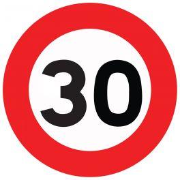 """Panneau de circulation """"limitation de vitesse 30km/H"""""""