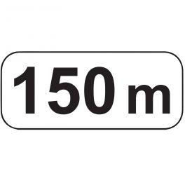 Panonceaux d'étendue - 150 m