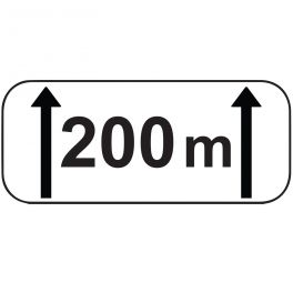Panonceau d'étendue M2 : - 200 m