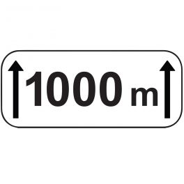 Panonceau d'étendue1000m