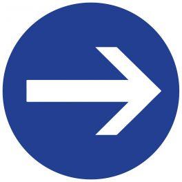 Panneau de circulation - obligation de tourner à droite
