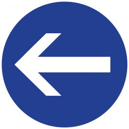 """Panneau de circulation """"obligation de tourner à gauche"""""""