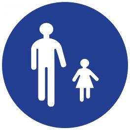 Panneau de circulation - passage pièton