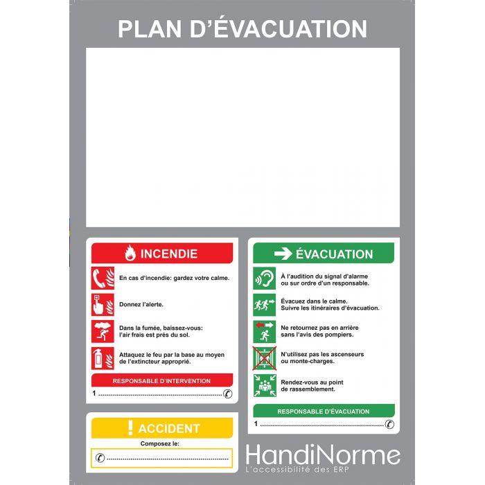 Poster plan d'évacuation personnalisable