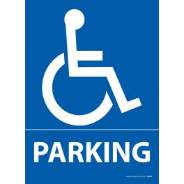 Panneau Parking + pictogramme PMR