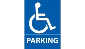 """Panneau Parking + pictogramme """"Handicapé"""""""