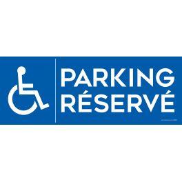 Panneau Parking Réservé logo PMR