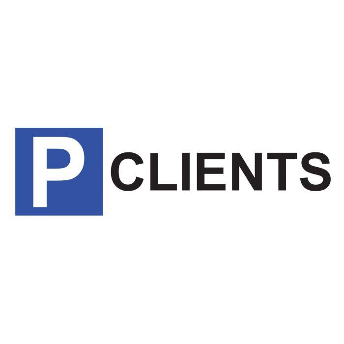 Panneau de parking en aluminium - P CLIENTS