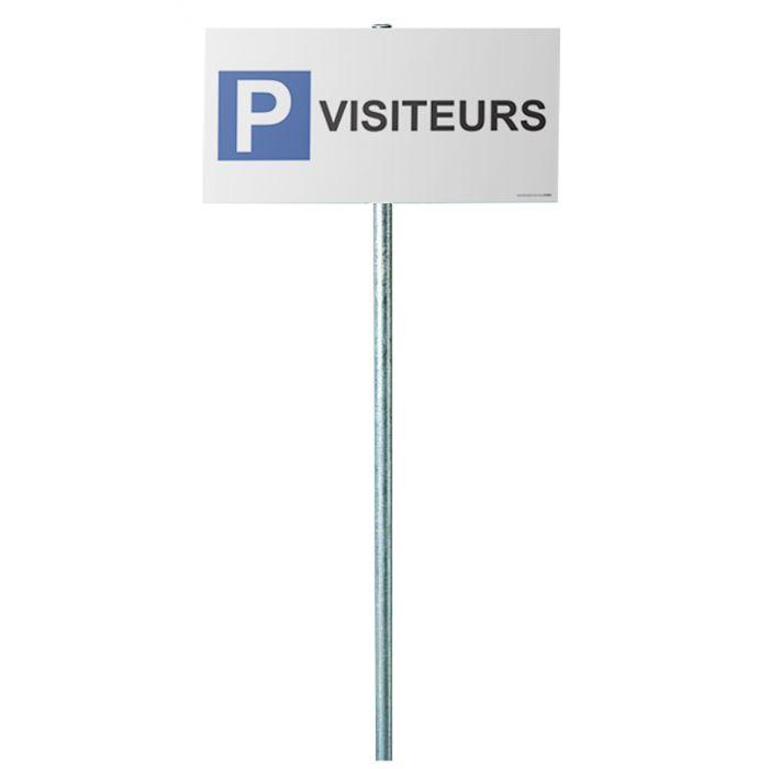 Kit panneau de parking - P VISITEURS