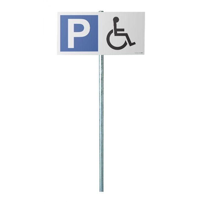 signal tique stationnement erp kit panneau parking p logo pmr. Black Bedroom Furniture Sets. Home Design Ideas