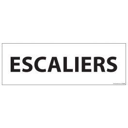 "Signalisation d'information ""ESCALIERS"" - 210 x 75 mm"