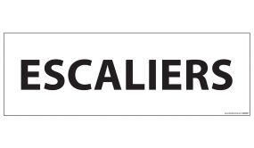 Signalisation d'information - ESCALIERS - - 210 x 75 mm