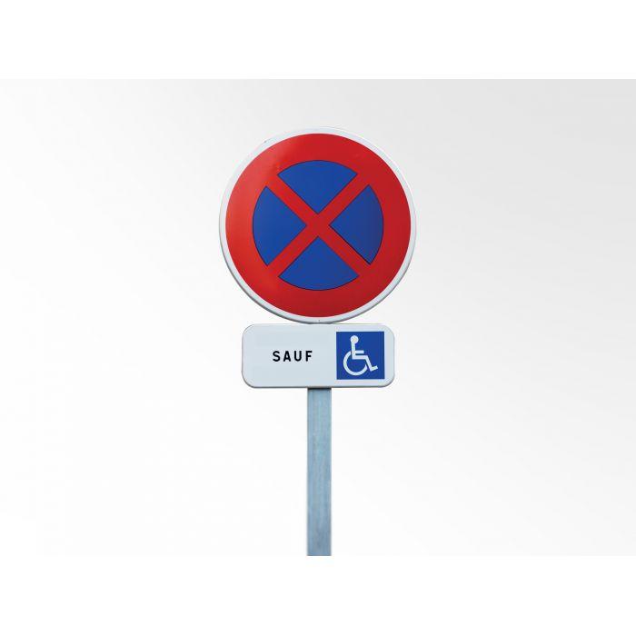 Kit panneau Arrêt et Stationnement Interdit Sauf PMR
