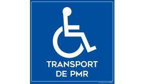 Signalisation -dhésif sur la face pour véhiculeTransport de personnes Handicapés + Picto