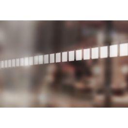 Bandes de signalisation MOTIF carré blanc- Surfaces vitrées