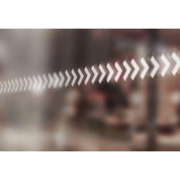Bandes de signalisation MOTIF flèches - Surfaces vitrées