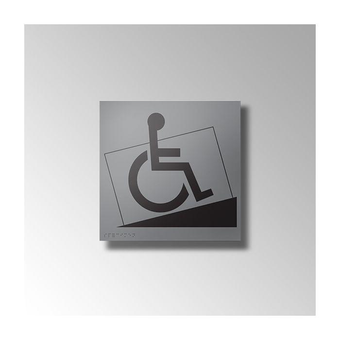 Panneau relief et braille ACCES RAMPE PMR