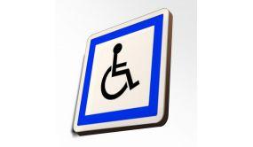 Panneau de Circulation à Couvre-Chant : Stationnement Réservé aux Personnes Handicapées