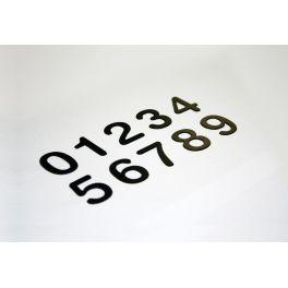 Chiffres en relief adhésif pour plaque de porte de 0 à 9