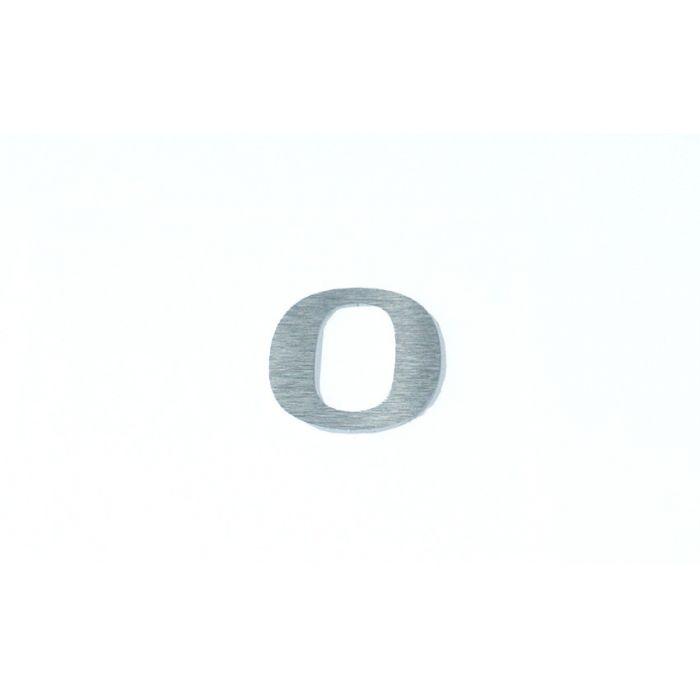 "Chiffre relief en aluminium brossé chiffre ""0"""