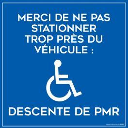 Plaque magnétique stationnement véhicule PMR