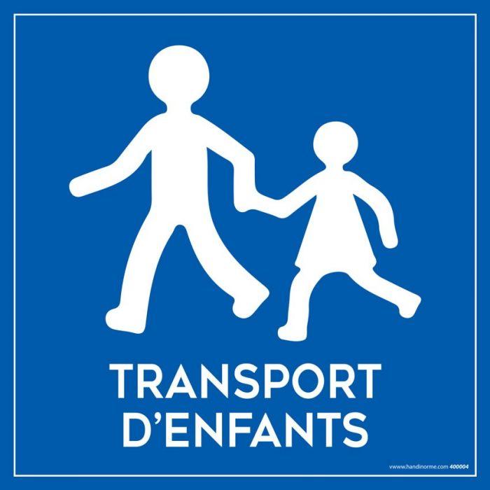 Plaque magnétique pour véhicule Transport d'enfant - 20 x 20 cm