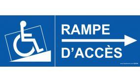 Signalisation - Rampe Accès handicapé flèche droite