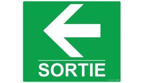 Panneau rectangulaire de sécurité Sortie flèche gauche