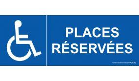 Signalisation Places réservées handicapé