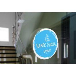 Adhésif design pour carillon d'appel rampe d'accès - Bleu