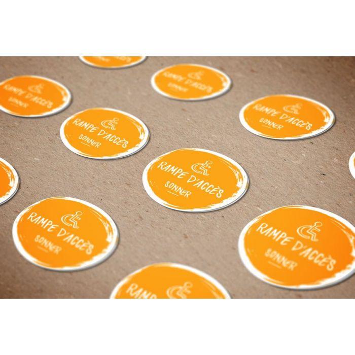 8 Autocollant pour flurlicht Hall étiquette pour sonnette lumière sonnette palpeur