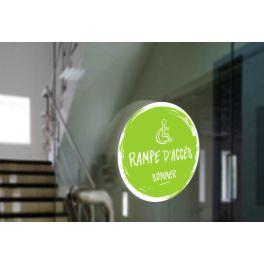 Adhésif design pour carillon d'appel rampe d'accès - Vert