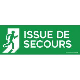 Panneau - ISSUE DE SECOURS FOND VERT