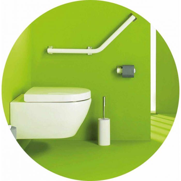 barre d 39 appui coud e 135 design pour pmr blanche avec 2. Black Bedroom Furniture Sets. Home Design Ideas