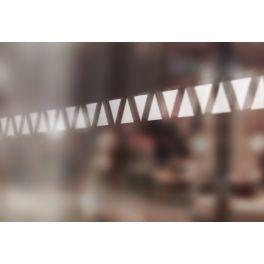 Bandes de signalisation MOTIF triangle - Surfaces vitrées