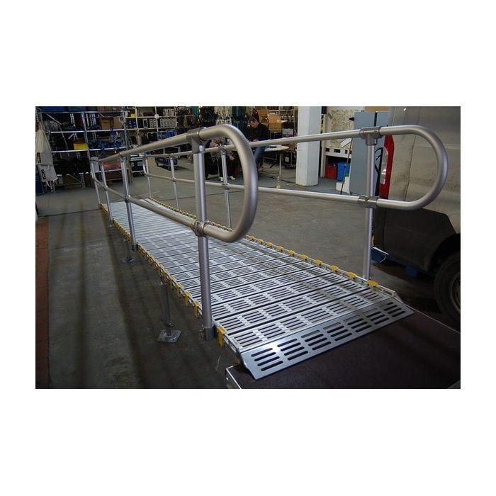 Rampe d 39 acc s enroulable en aluminium wind en 10 dimensions for Rampe dacces voiture