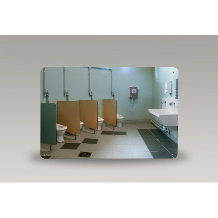 Miroir pour sanitaire incassable PLEXICHOK - Rond ou rectangulaire