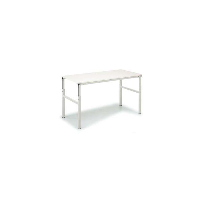 Table ergonomique réglable permettant d'alterner entre la position debout et assise
