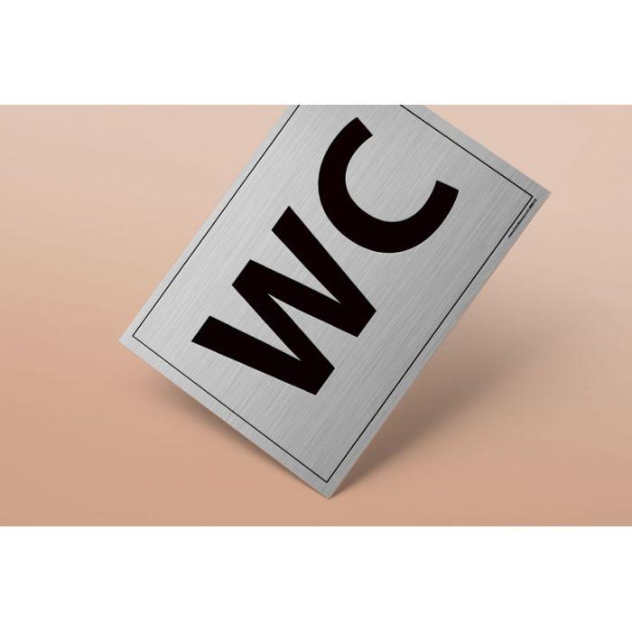 Plaque gravée - WC - 10 x 14 cm BLANC