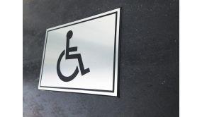 Plaque gravée picto Handicapé